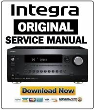 Integra DRC R1 Network A/V Preamp Service Manual and Repair Guide