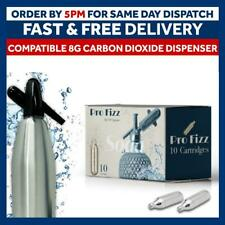 More details for pro fizz 8g co2 cartridges non-threaded add soda siphon co2 syphon gas bulbs