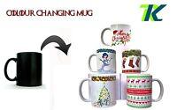 PERSONALISED CHRISTMAS MUG great coffee mug cup tea Color Changing Heat  GIFT