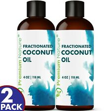 Fractionated Coconut Oil For Face Hair & Body Massage Aromatherapy 8 OZ