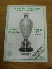 28/04/1985 FA Sunday Cup Final: Hobbies United v Avenue [At Norwich City] . Foot