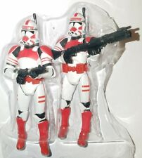 Star Wars 2X SHOCK TROOPER Figure Skirmish in the Senate Mustafar Red Clone