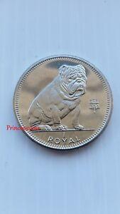 SCARCE*1996*UNC*GIBRALTAR BULLDOG 1 ROYAL COIN-KM365.1