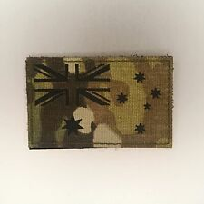 Australian Flag Patch — Badge Embroidered Hook and Loop — Camo Tactical Military