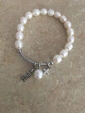 honora bracelet pearl cross faith