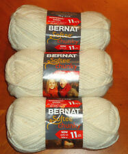 Bernat Softee Chunky Yarn Lot Of 3 Skeins (Natural #28008)