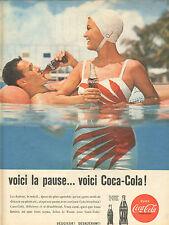 Publicité Advertising 1960  COCA COLA