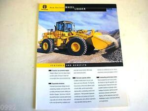 New Holland LW170 Wheel Loader Color Sales Sheet From 1999