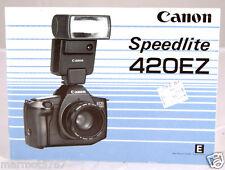 Canon Speedlite 420Ez Instruction Manual! Good Condition!