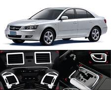 Chrome Interior Molding Garnish Trim Cover Kit 10p For 06 07 Hyundai Sonata NF