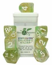 R4I Diffusion Poly Dice - Dragon's Hoard, Arch'd d4 w/White Numbers (7) New New