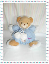 C - Doudou Ours Boule Esquimau Bleu Fourrure Blanche Kaloo
