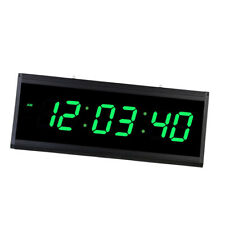 Digital LED Night Wall Clock Large Display Clock for Living Room-Green