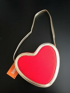 NWT Gymboree Valentine's Day Gold/Red Heart Purse Bag Accessories