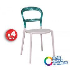 Pack x4 silla de comedor / cocina diseño estructura pvc metacrilato colores