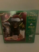 "Suns Out Brand 500 Piece Jigsaw Tom Wood Art PUZZLE ""For Santa Only"" New 18""x24"""