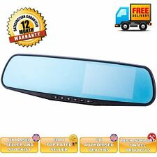 Rear view mirror car cam reverse camera option DVR dual camera DVR