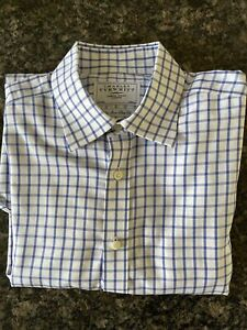 Charles Thrwhit Cheque Shirt 16.5 Non Iron Slim Fit Longed Sleeved