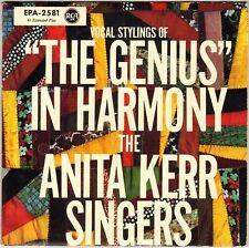 "THE ANITA KERR SINGERS ""THE GENIUS IN HARMONY"" 60'S EP RCA EPA-2581 RAY CHARLES!"