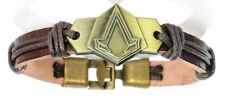 Assassin's Creed Brass Toggle Leather Bracelet