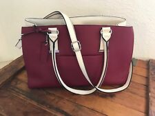 WILSON LEATHER TOTE IT BAG RED & WHITE - Leather