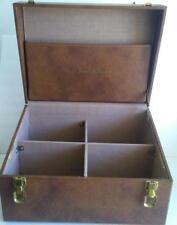Kilgour French & Stanbury Salesman Sample Case Big Hard Suitcase Divided Vintage