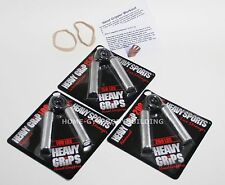 Heavy Grips Hand Grippers PICK ANY THREE MODELS + Finger Exercise Bands