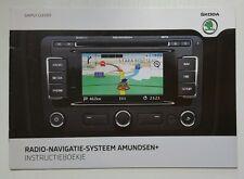 Skoda Instructieboekje Radio Navigatie Systeem Amundsen + 05/2011 Dutch //00107