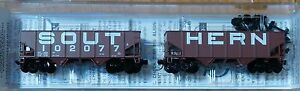 Micro-Trains Line #05600370 Rd #102077 33' Twin Hopper w/Rib Sides Southern Rail