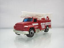 Diecast Matchbox Utility Truck Fire Dept 1989 Red Good Condition