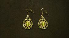 Clearance Victorian Vintage Crystal & Rhineston Dangle Earrings
