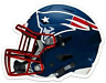 New England Patriots Logo Helmet Type NFL Football MAGNET