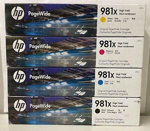 New Genuine HP 981X Black Color 4PK Pagewide Cartridge L0R12A