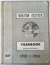 1958-59 Boston Celtics Basketball Yearbook