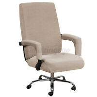 1-4Pcs Universal Office Chair Cover with Armrest Stretch Computer Seat Slipcover