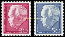 EBS West Berlin 1967 President Heinrich Lübke (II) Michel 314-315 MNH**