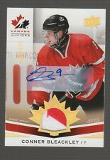 (55235) 2014-15 UPPER DECK TEAM CANADA JUNIORS CONNER BLEACKLEY AUTO PATCH #175