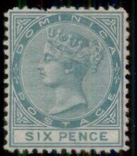 DOMINICA #2, 6p green, og, LH, short perf, VF, Scott $625.00
