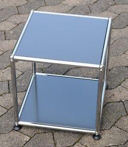 USM Haller Beistelltisch Tisch  RAL 7016 Anthrazit 37x37x39cm NEU