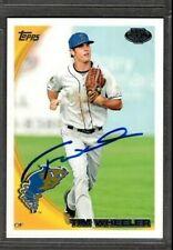 2010 Topps #188 Tim Wheeler Tri-City Dust Devils Card Signed Autograph (H33)