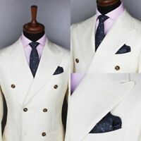 Double Breasted Men's Formal Wedding Groom Tuxedos Groomsman Best Man Party Suit
