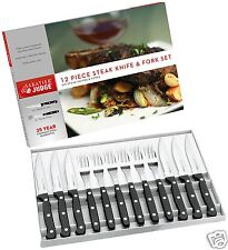Giudice Sabatier 12 pezzi in acciaio inox Steak Knife & fork Box Set iv42