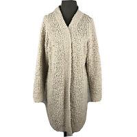 POL Womens Sweater Open Front Cardigan Long Sleeve Knit Stretch Beige Size M