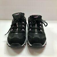 Women's Avia 9 1/2 Tennis Shoes Cute Black and Pink Memory Foam Lace Ups Size