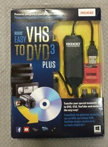 Roxio Easy VHS to DVD 3 Plus - VHS to DVD Converter Software - New Open Box
