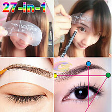 27-IN-1 Magic Eyebrow Stencil Shaping Template DIY Grooming Shaper Make-up Kit