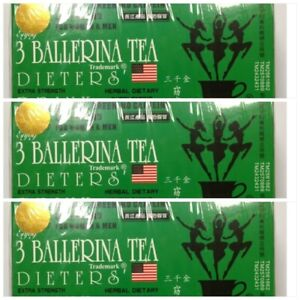 3 Boxes 3 Ballerina Herbal Tea Dieters' Drink Extra Strength 54 Teabags