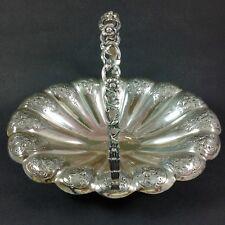 Elkington Victorian Silver Plate on Copper Fruit Basket Bowl 1897