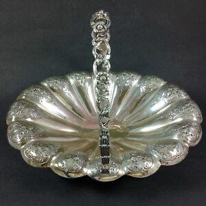 Antique Elkington Victorian Silver Plate on Copper Fruit Basket Bowl 1897