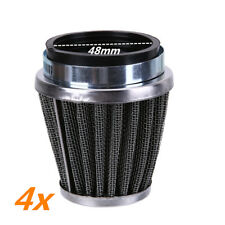 4pcs 48mm Inlet Cone Air Filter Intake Pod Moped Scooter ATV Quad Go Kart Buggy